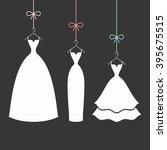 bridal dresses white on a... | Shutterstock .eps vector #395675515