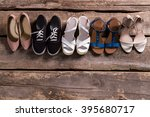 pairs of woman's stylish... | Shutterstock . vector #395680717