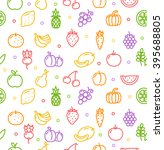 fruits and vegetables colorful...   Shutterstock .eps vector #395688805