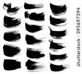 abstract black ink brush... | Shutterstock .eps vector #395697394