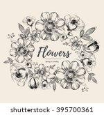vector beautyful frame with... | Shutterstock .eps vector #395700361