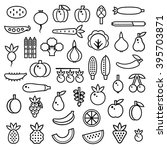 vegetables  berries and fruits... | Shutterstock .eps vector #395703871