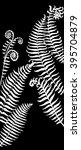 fern leaves on chalkboard   Shutterstock .eps vector #395704879
