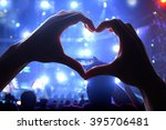silhouette of a heart shaped... | Shutterstock . vector #395706481