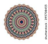 mandala vector for art ... | Shutterstock .eps vector #395708455