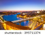 panorama of lighted famous... | Shutterstock . vector #395711374