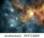 universe filled with stars ... | Shutterstock . vector #395714809