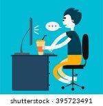 freelance vector character...   Shutterstock .eps vector #395723491