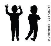 boy child silhouette... | Shutterstock .eps vector #395726764