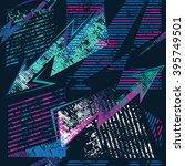 abstract seamless grunge... | Shutterstock .eps vector #395749501
