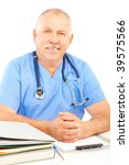 smiling medical doctor with... | Shutterstock . vector #39575566