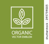 vector abstract organic emblem  ...   Shutterstock .eps vector #395759005