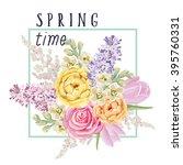 spring bouquet of delicate... | Shutterstock .eps vector #395760331