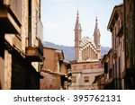 Medieval Gothic Cathedral With...