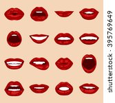 vector lips set. | Shutterstock .eps vector #395769649