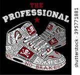 the professional sneakers... | Shutterstock .eps vector #395771881