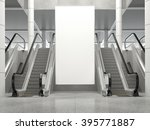 blank vertical big poster in... | Shutterstock . vector #395771887