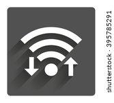 wifi signal sign. wi fi upload  ...