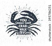 hand drawn vintage label  retro ... | Shutterstock .eps vector #395786251