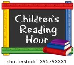 childrens reading hour... | Shutterstock .eps vector #395793331