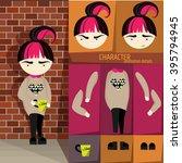 vector character design. red... | Shutterstock .eps vector #395794945