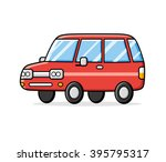 red cartoon car. | Shutterstock .eps vector #395795317