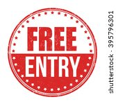 free entry grunge rubber stamp... | Shutterstock .eps vector #395796301