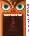 comic illustration of angry guy.... | Shutterstock .eps vector #395800687