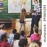classroom learning geography... | Shutterstock . vector #395801035