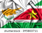 waving flag of suriname and... | Shutterstock . vector #395803711