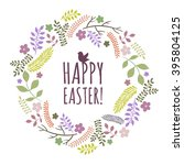 easter greeting card with... | Shutterstock .eps vector #395804125
