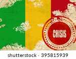 crisis stamp background with... | Shutterstock . vector #395815939