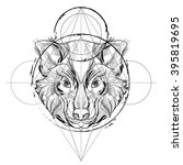 animal head  icon   geometric... | Shutterstock .eps vector #395819695