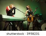 caucasian girl band playing...   Shutterstock . vector #3958231