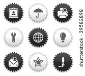 black  white sticker 9 | Shutterstock .eps vector #39582898