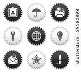 black  white sticker 9 | Shutterstock .eps vector #39582898
