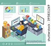 online education infographic... | Shutterstock .eps vector #395831269