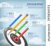 education infographic template... | Shutterstock .eps vector #395834551
