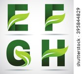 vector green alphabet set of... | Shutterstock .eps vector #395844829