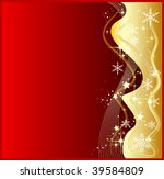 illustration of a abstract red... | Shutterstock . vector #39584809