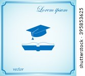 cap and book  education icon   Shutterstock .eps vector #395853625