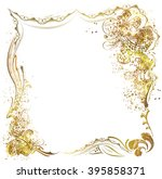gold abstract  flowers  in...   Shutterstock .eps vector #395858371