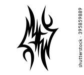 flame tattoo tribal sketch.... | Shutterstock .eps vector #395859889