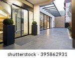 hotel entrance | Shutterstock . vector #395862931