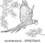 hand drawn ink pattern.... | Shutterstock . vector #395870641