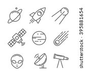 icon set space | Shutterstock .eps vector #395881654
