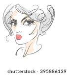 vector  stylish  original hand... | Shutterstock .eps vector #395886139