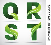 vector green alphabet set of...   Shutterstock .eps vector #395886601