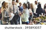 diversity people party... | Shutterstock . vector #395893057