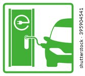 electric vehicle charging... | Shutterstock .eps vector #395904541